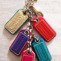 Coach Multi Lozenge Purse Charm Key Ring Fob Chain New With Tag Photo