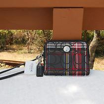 Coach Multicolor Wristlet Bag Purse Photo