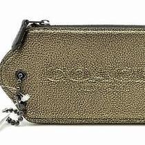 Coach Multifunction Case 52390 Metallic Khaki Leather Iphone Hang Tag Mint 0036 Photo