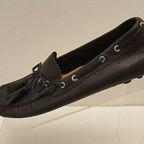 Coach Nadia Size 8 B Leather Tassel Driving Flats Loafers Drivers Blk Shoes Euc Photo