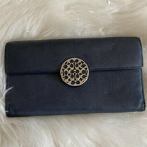 Coach Navy Blue Leather Clutch Wallet Photo
