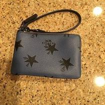 Coach Navy Blue Wristlet Photo