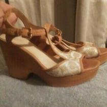 Coach Nelly Wedge Heels Size 9 Photo
