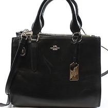 Coach New Black Leather Crosby Convertible Carryall Satchel Bag Purse 395- 089 Photo