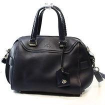 Coach New Blue Antique Nickel Glovetanned Leather Ace Satchel Bag Purse 595-16 Photo