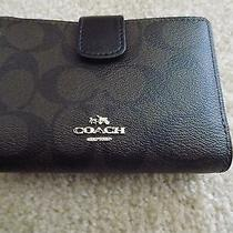 Coach - New Brown and Black Ladies Wallet With Zip Pocket Photo
