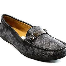 Coach New Gray Coated Canvas Women's Shoe Size 7.5 Loafers Moccasins 120- Deal Photo