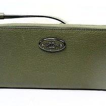 Coach New Green Antique Brass Refined Leather Zipper Zip Around Wallet 125-047 Photo