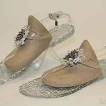 Coach New Hilda Womens 10 M Sparkly Clear Rubber T-Strap Sandals Flats Shoes Ry Photo