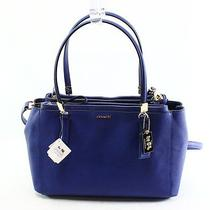Coach New Lacquer Blue Madison Small Christie Carryall Satchel Purse 298 032 Photo