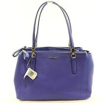 Coach New Lacquer Blue Saffiano Leather Women's Christie Satchel Purse 298- Photo