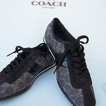 Coach New Signature Jayme Coated Canvas Sneakers in 6.5 Medium Photo