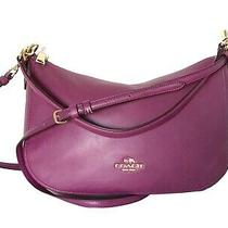 Coach New York 37018 Chelsea Calf Leather Crossbody Hobo Bag W/ Detachable Strap Photo