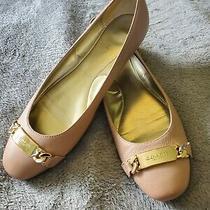 Coach New York Bianca Blush Pink Leather Gold Buckle Slip-on Flats Size 8b Photo