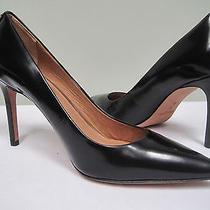 Coach New York Pump Heels Black Leather Shoes Luxury  Size 8 Nib Photo
