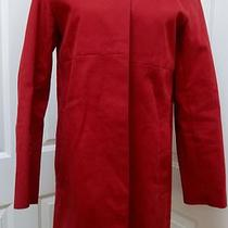 Coach New  York Red Rain Coat Jacket Logo Lining Sz M Weather Proofed Medium Photo