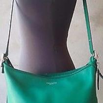 Coach New York Shoulder Bag Green Leather Photo
