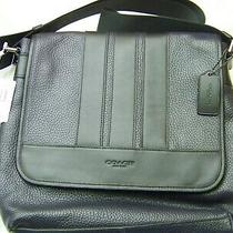 Coach New York Signature C Design Bond Messenger Shoulder Bag Pebble Photo