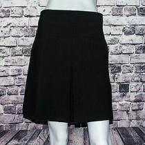 Coach New York Women's Inverted Pleat Black a-Line Skirt Size 00 Wool Photo