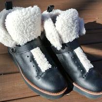 Coach New York Womens 8b 38 Urban Hiker Leather Shearling Winter Boots Q7800 Photo