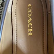 Coach Nib Box New Logo Flats Loafers 8.5 M Shoes Khaki Photo