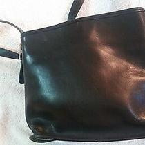 Coach Nickle Black Glove-Tanned Leather Saddle Purse With Buckle Strap Photo