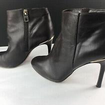Coach Nila Brown Leather Ankle Booties Euc Size 8 Photo