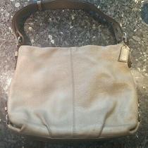 Coach no.e1120 F15064 Hobo Handbag Black Pebbled Leather Large Purse  Photo