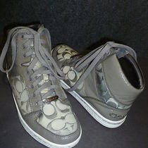 Coach Norra A1435 Gray High Top Sneakers 8 M  Photo