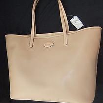 Coach Nude Crossgrain Leather Metro Tote Nwt  Photo