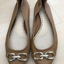 Coach Nude Leather Flats Ghw Size 7.5  Photo