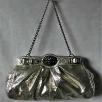 Coach Nwot Textured Metallic Gold/silver Evening Bag Clutch 14210 Photo