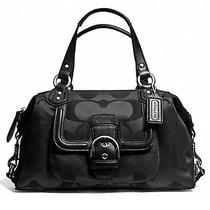 Coach Nwt Campbell Signature Satchel (Coach F24741)  Black  Msrp 328 Photo