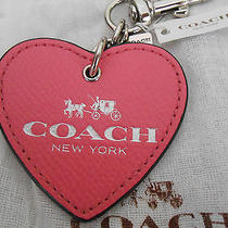 Coach Nwt Collectible Leather Heart Bag Charm Fundraise Attraction Forward Gift Photo