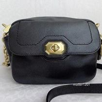 Coach Nwt F24843 Campbell Turnlock Leather Camera Bag Black  Photo