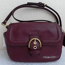 Coach Nwt F25150 Campbell Leather Camera Bag Bordeaux Photo