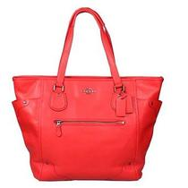 Coach Nwt Leather Mickey Tote Bag Cardinal F34039 Photo