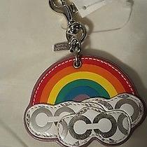 Coach Nwt Rare Rainbow Keychain Photo