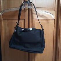 Coach Nylon/ Leather Trim Shoulder Bag Handbag Purse Vintage Black 7424  Photo