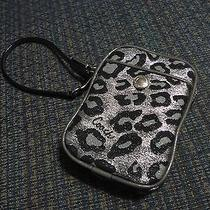 Coach Ocelot Leopard Wristlet Wallet Camera Pouch Photo