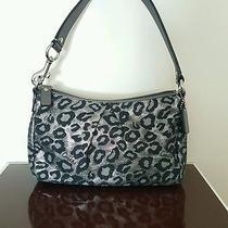 Coach Ocelot Metallic Silver Leppard Print Handbag  Photo