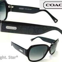 Coach Odessa Sunglasses S822 Black W/ Coach Chrome Logo 229.98 Msrp Save 50% Photo