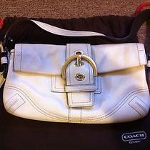 Coach Off White Leather Purse/bag Photo
