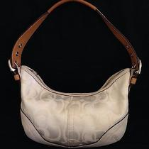 Coach Off-White Optic C Small Mini Hobo Bag Purse Photo
