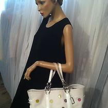 Coach Off White With Colored Circles Purse Bag Photo