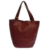 Coach Old Belt Leather Tote Bag Handbag Red Photo