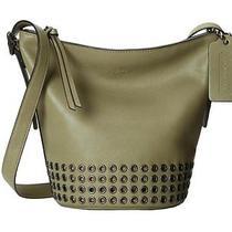 Coach Olive Bleeker Grommet Mini Duffel Bucket Purse/handbag/crossbody Dustbag  Photo