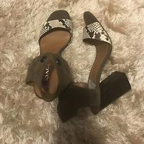 Coach Olive Green Suede and Snake Print Stacked Heels (Missing Strings) Size 10 Photo
