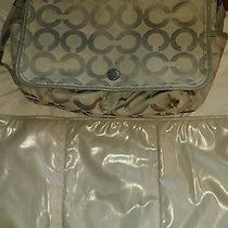 Coach Op Art Messenger Multifunction Diaper Baby Handbag With Changing Pad Photo