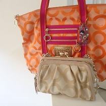 Coach Op Art Parker Clutch Free Coach Poppy Glam Tote Photo